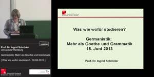 Miniaturansicht - Germanistik: Mehr als Goethe und Grammatik