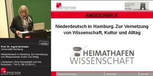 Thumbnail - Niederdeutsch in Hamburg. Zur Vernetzung von Wissenschaft, Kultur und Alltag