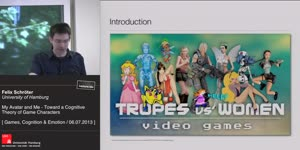 Thumbnail - My Avatar and Me. Toward a Cognitive Theory of Game Characters