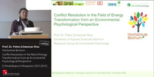 Miniaturansicht - Conflict Resolution in the Field of Energy Transformation from an Environmental Psychological Perspective