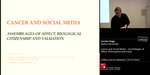 Miniaturansicht - Cancer and Social Media – Assemblages of Affect, Participation and Value