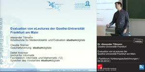 Miniaturansicht - Evaluation von eLectures der Goethe-Universität Frankfurt am Main