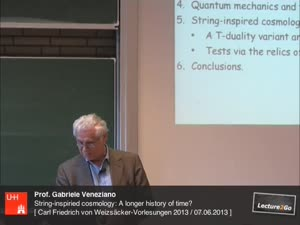 Miniaturansicht - String-inspired cosmology: A longer history of time?