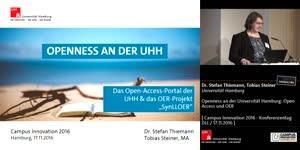 Miniaturansicht - Openness an der Universität Hamburg: Open Access und OER