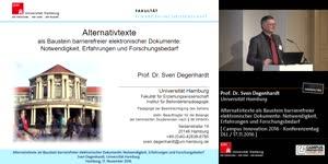 Miniaturansicht - Alternativtexte als Baustein barrierefreier elektronischer Dokumente: Notwendigkeit, Erfahrungen und Forschungsbedarf