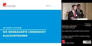 Miniaturansicht - Die webbasierte Lerneinheit 'Klausurtrainer'