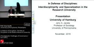 Miniaturansicht - In Defense of Disciplines: The Role of Disciplines in the Modern Research University
