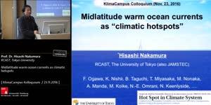 Miniaturansicht - Midlatitude warm ocean currents as climatic hotspots