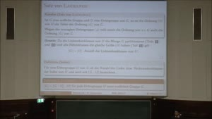 Miniaturansicht - Diskrete Mathematik - Informatik 1. Semester 20.01.2017