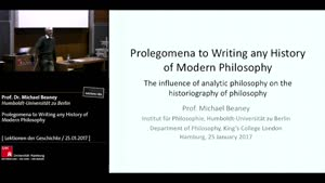 Vorschaubild - Prolegomena to Writing any History of Modern Philosophy