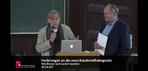 Miniaturansicht - Fritz Bremer und Joachim Speicher: Forderungen an das neue Bundesteilhabegesetz