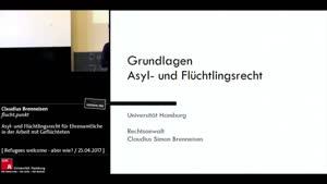 Thumbnail - Asyl- und Flüchtlingsrecht für Ehrenamtliche in der Arbeit mit Geflüchteten