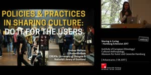 Miniaturansicht - Andrea Wallace: Policies and Practices in Sharing Culture: Do It for the Users