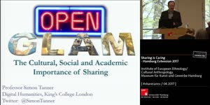 Miniaturansicht - Simon Tanner: OpenGLAM – the Cultural, Social and Academic Importance of Sharing