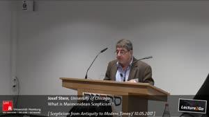 Miniaturansicht - What is Maimonidean Scepticism?
