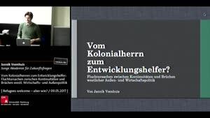 Thumbnail - Vom Kolonialherren zum Entwicklungshelfer: Fluchtursachen zwischen Kontinuitäten und Brüchen westl. Wirtschafts- und Außenpolitik