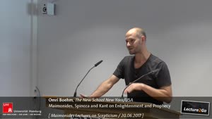 """Miniaturansicht - """"Maimonides, Spinoza and Kant on Enlightenment and Prophecy"""""""