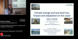Miniaturansicht - Climate change and sea-level rise: impact and adaptation on the coast