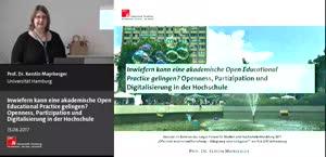 Miniaturansicht - Inwiefern kann eine akademische Open Educational Practice gelingen? Openness, Partizipation und Digitalisierung in der Hochschule