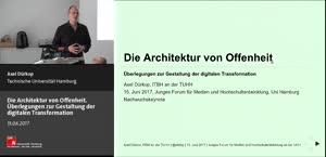 Miniaturansicht - Die Architektur von Offenheit. Überlegungen zur Gestaltung der digitalen Transformation