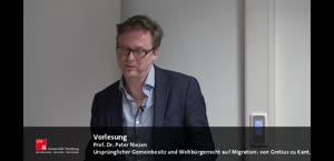 Thumbnail - Grotius Lecture - Ursprünglicher Gemeinbesitz und Weltbürgerrecht auf Migration: von Grotius zu Kant