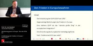 Thumbnail - Den Frieden in Europa bewahren: Die Rolle der EU