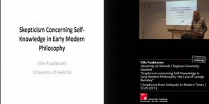 """Miniaturansicht - """"Scepticism concerning Self-Knowledge in Early Modern Philosophy: the Case of George Berkeley"""""""