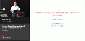 Miniaturansicht - Aspects of Calabi-Yau variety and SCFTs in various dimensions