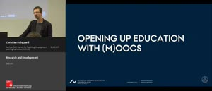 Miniaturansicht - Research and Development - opening up education with (M)OOCS