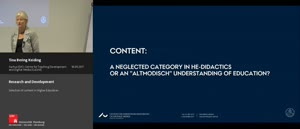 Thumbnail - Research and Development - Selection of content in Higher Education