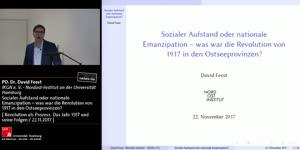 Miniaturansicht - Sozialer Aufstand oder nationale Emanzipation – was war die Revolution von 1917 in den Ostsee- provinzen?