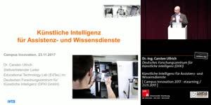 Miniaturansicht - Künstliche Intelligenz für Assistenz- und Wissensdienste