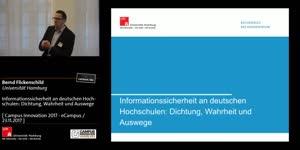 Miniaturansicht - Informationssicherheit an deutschen Hochschulen: Dichtung, Wahrheit und Auswege