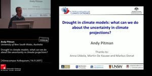 Thumbnail - Drought in climate models: what can we do about the uncertainty in climate projections?