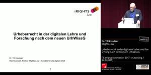 Miniaturansicht - Urheberrecht in der digitalen Lehre und Forschung nach dem neuen UrhWissG