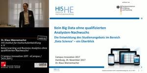 Miniaturansicht - Keine Learning und Business Analytics ohne qualifizierten Nachwuchs!