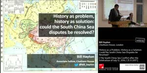 Miniaturansicht - History as a Problem, History as a Solution: Could the South China Sea Disputes be Resolved?