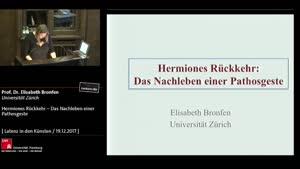 Thumbnail - Hermiones Rückkehr - Das Nachleben einer Pathosgeste
