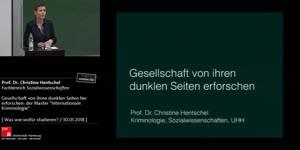 """Miniaturansicht - Gesellschaft von ihren dunklen Seiten her erforschen: der Master """"Internationale Kriminologie"""""""