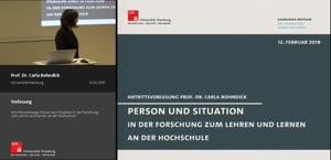 Thumbnail - Antrittsvorlesung: Person und Situation in der Forschung zum Lehren und Lernen an der Hochschule
