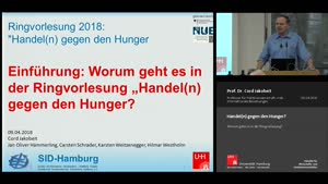 """Miniaturansicht - Einführung: Worum geht es in der Ringvorlesung """"Handel(n) gegen den Hunger""""?"""