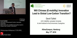 Miniaturansicht - Will Chinese (E-mobility) Innovation Lead in Global Low-Carbon Transition?