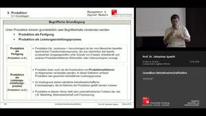 Miniaturansicht - Vorlesung 7 - Materialwirtschaft (2)/ Produktion