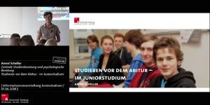Vorschaubild - Studieren vor dem Abitur - im Juniorstudium - Informationsveranstaltung vom 01.06.18
