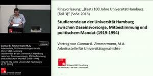 Thumbnail - Studierende an der Universität Hamburg zwischen Daseinsvorsorge, Mitbestimmung und politischem Mandat (1919–1994)