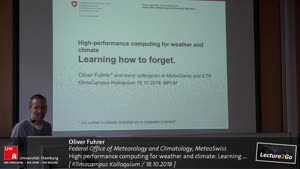 Vorschaubild - High performance computing for weather and climate: Learning how to forget