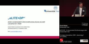 Miniaturansicht - eLITE+DP – E-Assessment-Archivierung an der Universität Trier