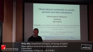 Miniaturansicht - Observational constraints on clouds, aerosols and their interactions