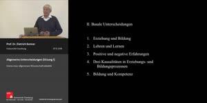 Thumbnail - Allgemeine Unterscheidungen (Sitzung 1)