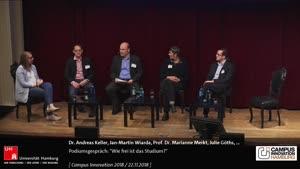 """Miniaturansicht - Podiumsgespräch: """"Wie frei ist das Studium? Das Ideal der Selbstbestimmung zwischen Anwesenheitspflicht und Digitalisierungsrückstand"""""""